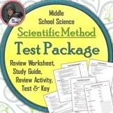 Scientific Method Test Bundled Package