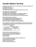 Scientific Method Test Prep Questions 2