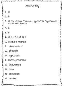 Scientific Method Test or Quiz