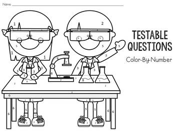 Scientific Method: Testable and Non-Testable Questions: Color-By-Number