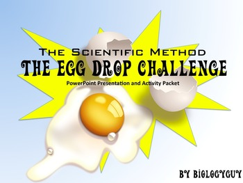 scientific method the egg drop challenge by edward white tpt. Black Bedroom Furniture Sets. Home Design Ideas
