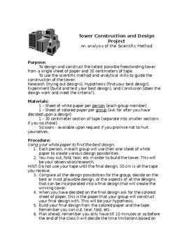Scientific Method - The Tower Project