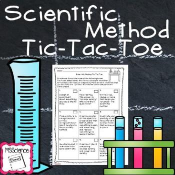 Scientific Method Tic-Tac-Toe Activity