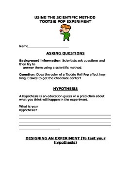 Scientific Method - Tootsie Pop Experiment