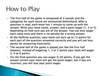 Scientific Method Trivia Game