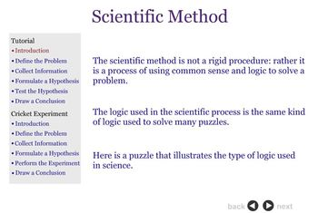 Scientific Method Tutorial and Online Experiment