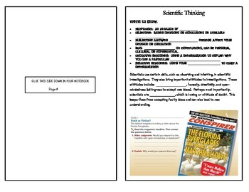 Scientific Method - Unit Notes (5 sections) - Interactive Notebook