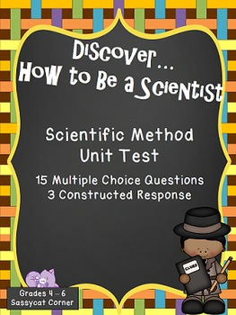 Scientific Method - Unit Test  - Free