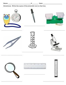 Scientific Method Unit Test and Vocabulary Cards