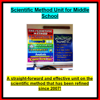 Scientific Method Unit for Middle School (3 Weeks of lessons)