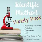 Scientific Method Activity Pack- Interactive Notebook, Experiments, Quiz