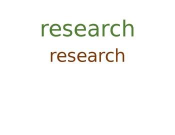 Scientific Method Vocab & Cognates