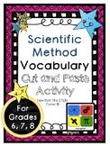 Scientific Method Vocabulary Activity