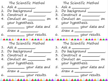 Scientific Method Word Wall Vocabulary Cards FREE!