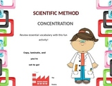 Scientific Method Vocabulary Concentration
