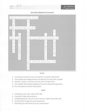 Scientific Method Vocabulary Crossword