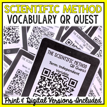 Scientific Method Vocabulary QR Code Quest