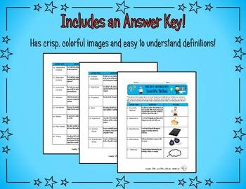 Scientific Method Vocabulary Sheet {Science, Biology, Chemistry}
