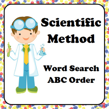 Scientific Method Word Search and ABC Order