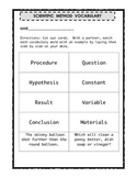 Scientific Method Vocabulary Word Sort