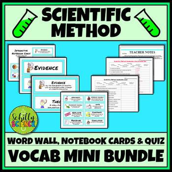 Scientific Method Vocabulary - Word Wall, Interactive Notebook, & Quiz