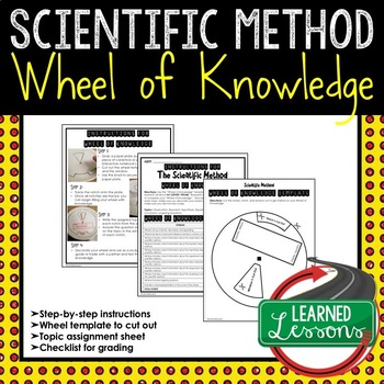 Scientific Method Wheel of Knowledge Interactive Notebook Page (Science)