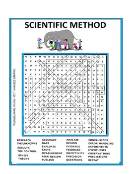 Scientific Method Word Search or Wordsearch