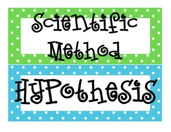 Scientific Method Word Wall