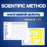 Scientific Method * WordSearch * Vocabulary* Warm Up * Bell Ringer *
