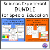 Scientific Method Workbook and Science Experiment BUNDLE for Special Education