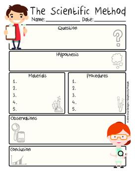 Scientific Method Worksheet PDF English/Método Científico Spanish