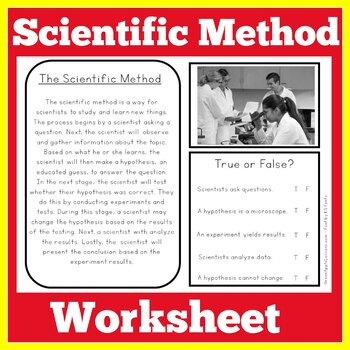 Scientific Method Worksheet Activity