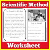 Scientific Method Worksheet Activity