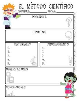 Scientific Method Worksheet PDF English/Método Científico Spanish - Halloween