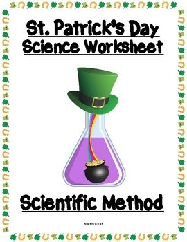 Scientific Method Worksheet - Variables, Graphing, St. Patrick's Day Science
