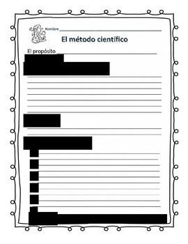 Scientific Method Worksheet in Spanish and English