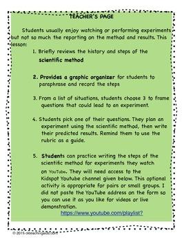 Scientific Method - Write On! Practice Science Writing Skills