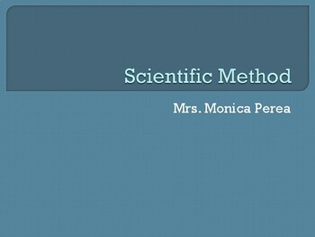 Scientific Method and Experiment With Vocabulary in English and Spanish!