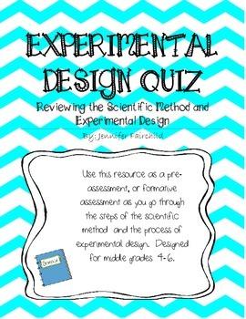 Scientific Method and Experimental Design Quiz