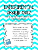 Scientific Method and Experimental Design Quiz