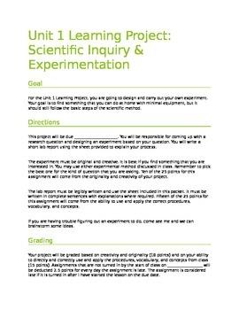Scientific Method and Inquiry Project