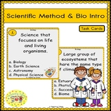 Scientific Method and Introduction to Biology Task Cards