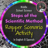 Steps of the Scientific Method Activity with Rapper Scenarios