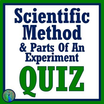 Scientific Method, Variables & Parts of an Experiment QUIZ (Middle School)