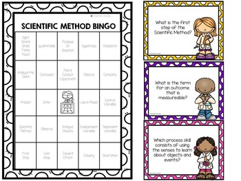 Scientific Method and Process Skill Bingo