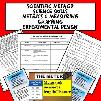 Scientific Method Bundle: Science Skills PowerPoint Labs Guided Notes Assessment
