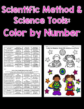 Scientific Method and Tools Color By Number
