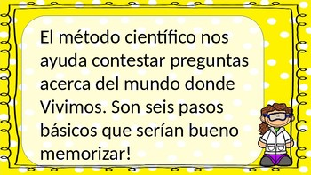 Scientific Method (el metodo cientifico) Spanish Power Point