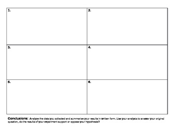 Scientific Method for Science Fair Worksheets