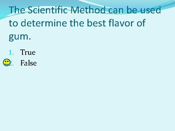 Scientific Method notes with formative questions